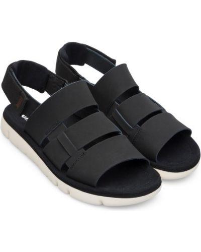 Czarne sandały skorzane miejskie Camper