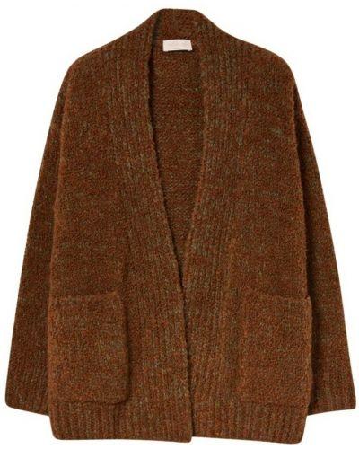 Brązowy sweter oversize Momoni