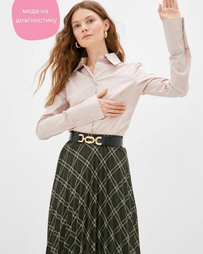 Брендовая бежевая с рукавами рубашка Lipinskaya Brand