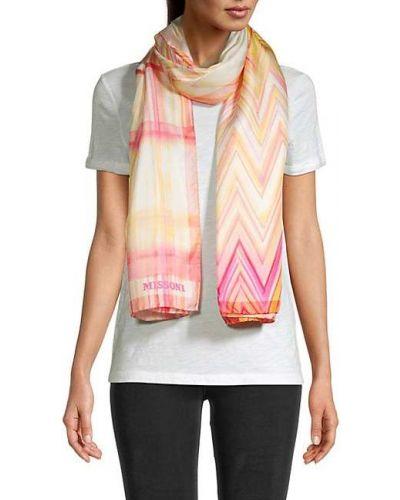 Розовый шелковый шарф Missoni