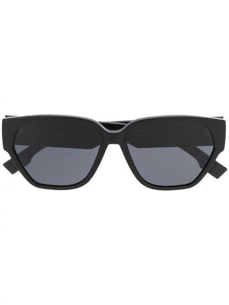 Прямые муслиновые черные солнцезащитные очки Dior Eyewear