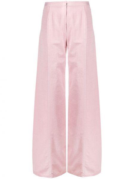 Розовые брюки со складками Emanuel Ungaro Pre-owned