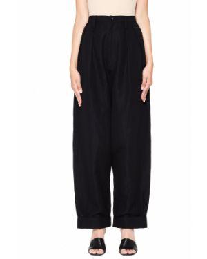 Свободные брюки со складками льняные Y`s