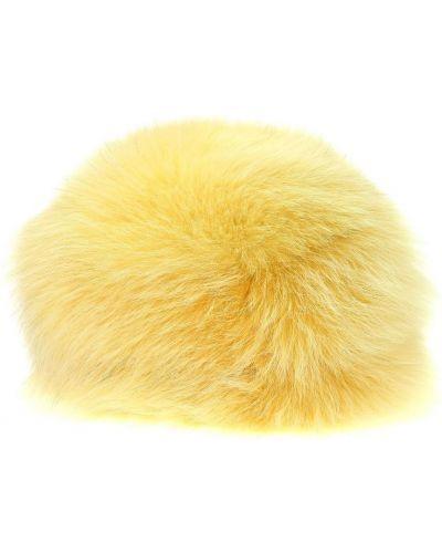 Żółta kapelusz Prada