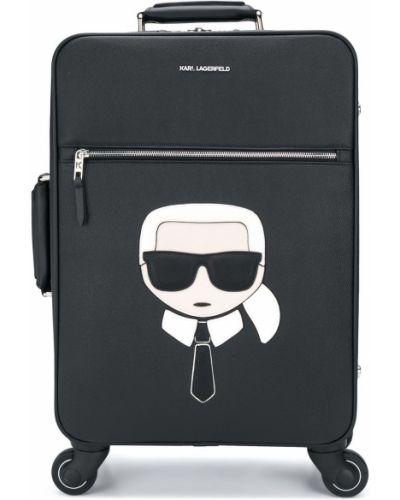 Черная сумка на молнии прямоугольная Karl Lagerfeld