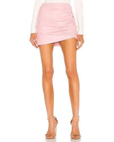 Różowa spódnica skórzana Lamarque