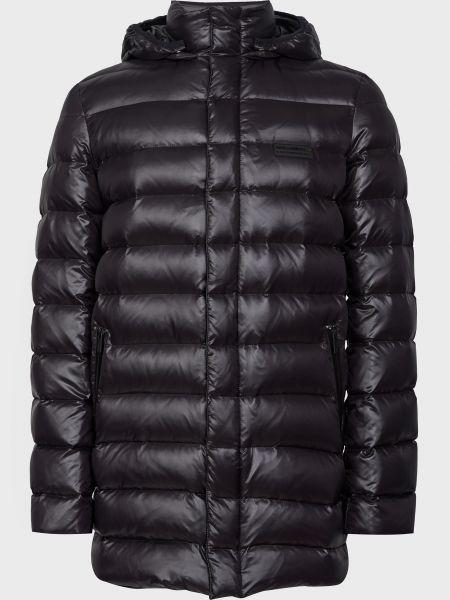 Пуховик на молнии - черный Karl Lagerfeld