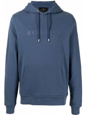 Bluza z nadrukiem z printem - niebieska Belstaff