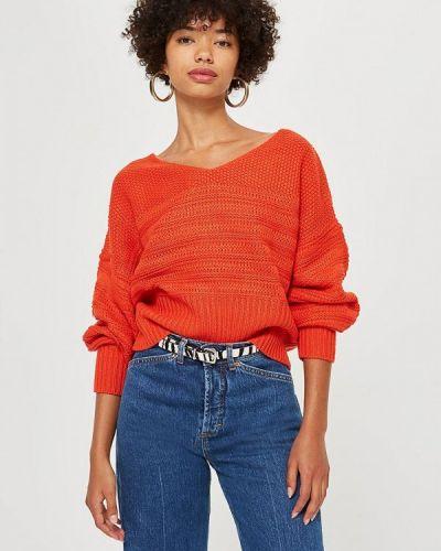 Красный пуловер 2018 Topshop
