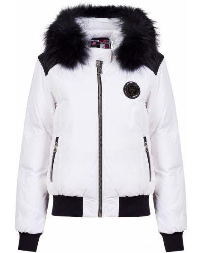 Кожаная куртка из полиэстера - белая Plein Sport