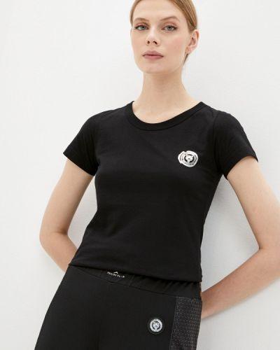 Спортивная черная спортивная футболка с короткими рукавами Plein Sport