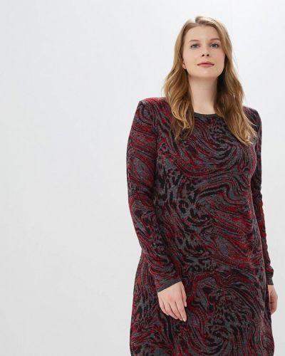 Вязаное платье осеннее трикотажное Milana Style