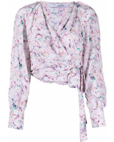 Белая блузка с запахом с вырезом Iro