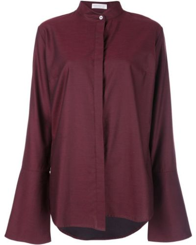 Рубашка красный расклешенная Dresshirt