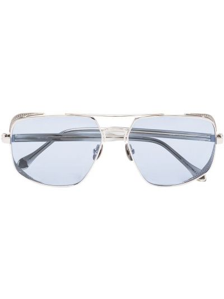 Niebieskie okulary srebrne Matsuda
