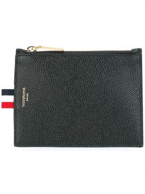Czarny portfel skórzany Thom Browne