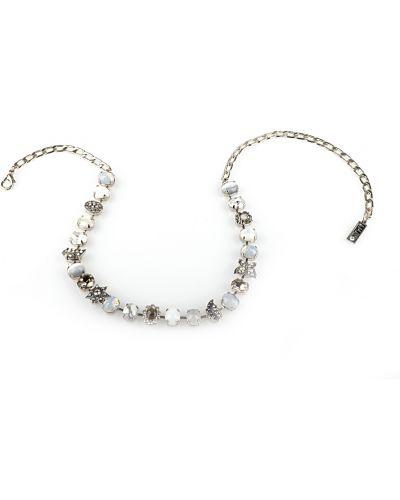 Ожерелье с жемчугом черное белый Amaro