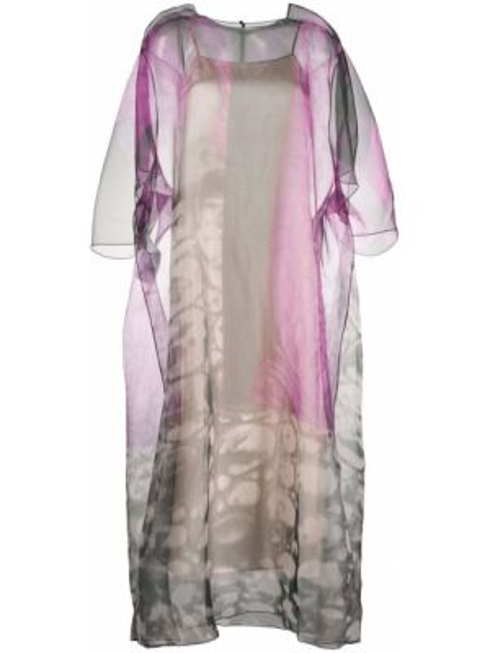 Платье миди с цветочным принтом с абстрактным принтом Maison Margiela