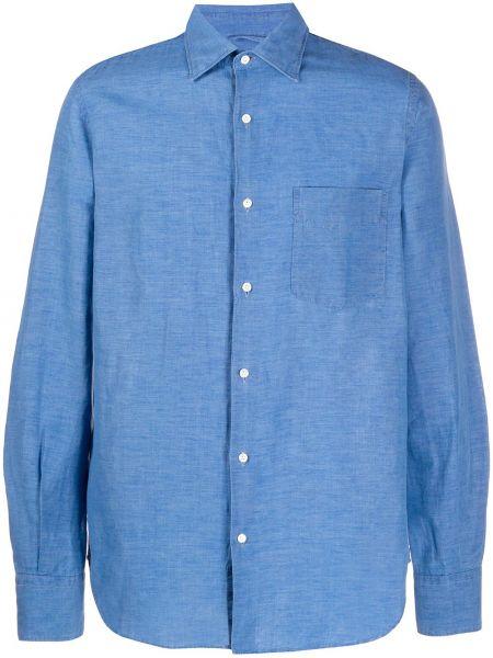 Koszula z długim rękawem dżinsowa z kieszeniami Aspesi