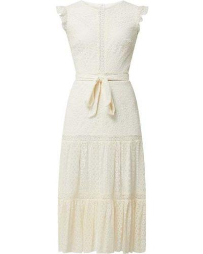 Sukienka koronkowa z falbanami - biała Paradi