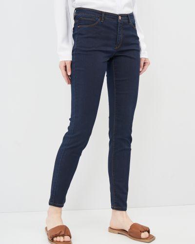 Синие джинсы-скинни с карманами узкого кроя Springfield