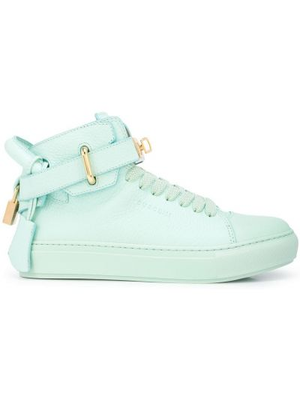 Niebieskie sneakersy skorzane Buscemi