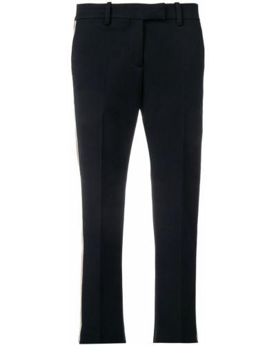 Черные укороченные брюки с воротником с поясом Roqa
