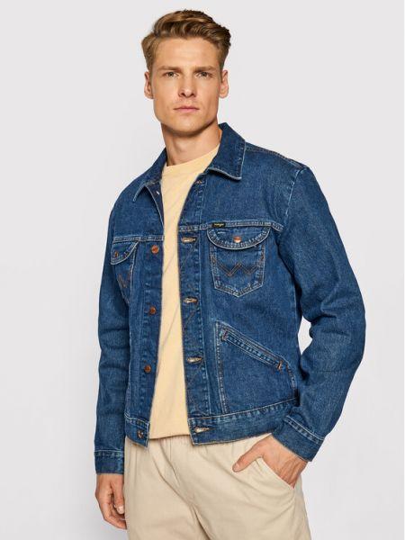 Kurtka jeansowa - granatowa Wrangler