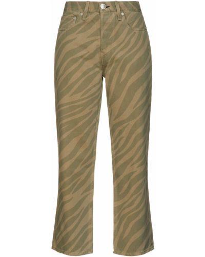 Хлопковые синие прямые укороченные джинсы Rag & Bone