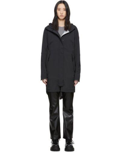 Куртка с капюшоном черная длинная Canada Goose