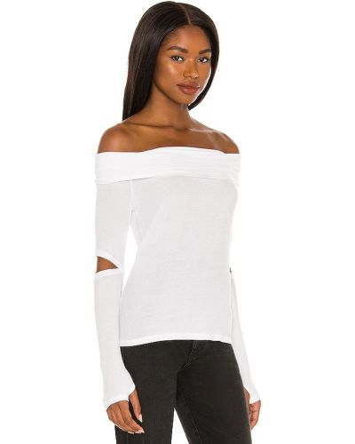 Koszulka prążkowana - biała Michael Lauren
