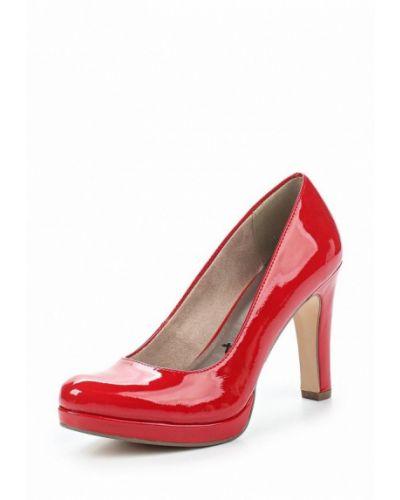 Кожаные туфли на каблуке Tamaris