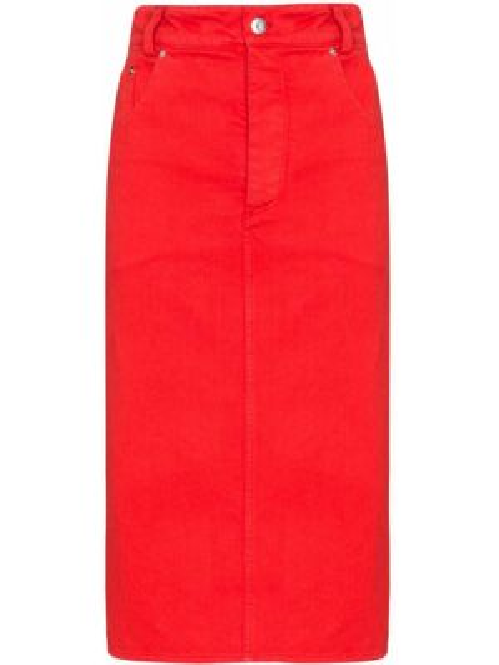 Джинсовая юбка на пуговицах карандаш Kwaidan Editions