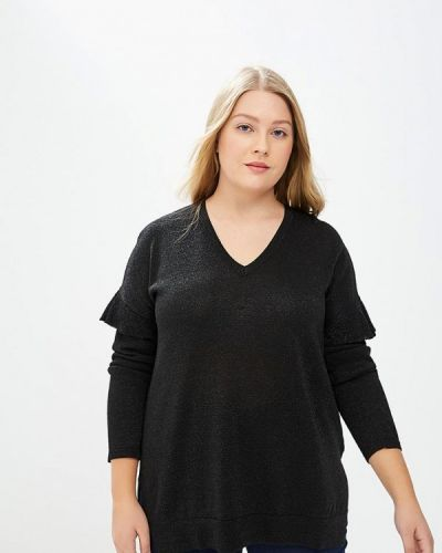 Черный пуловер Persona By Marina Rinaldi