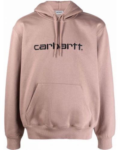 Bluza z nadrukiem z printem - różowa Carhartt Wip