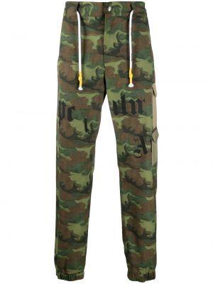 Bawełna bawełna zielony bojówki wojskowy Palm Angels