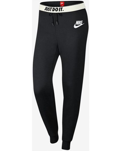 Брюки на резинке из вискозы трикотажные Nike