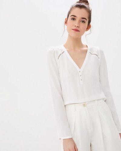 Блузка кружевная белый Naf Naf