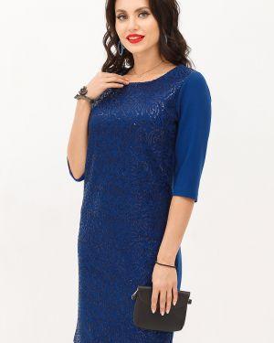 Трикотажное платье - синее Taiga