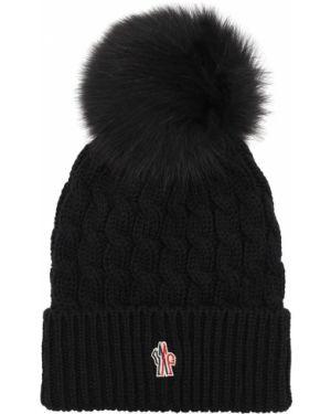 Czarny kapelusz wełniany Moncler Grenoble