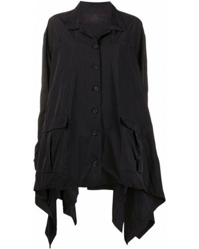 С рукавами черная куртка оверсайз Rundholz
