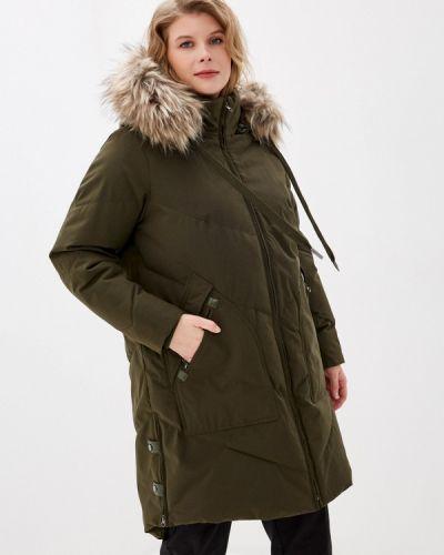 Зеленая теплая куртка Zizzi