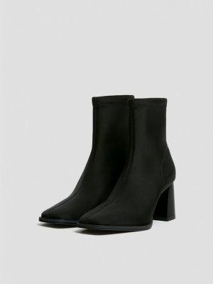 Черные зимние ботинки Pull&bear