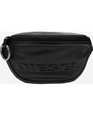 Кожаная сумка поясная черная Diesel