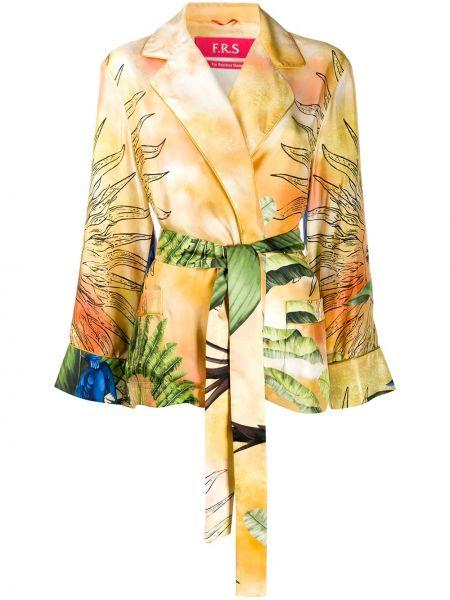 Открытый шелковый пиджак с карманами F.r.s For Restless Sleepers