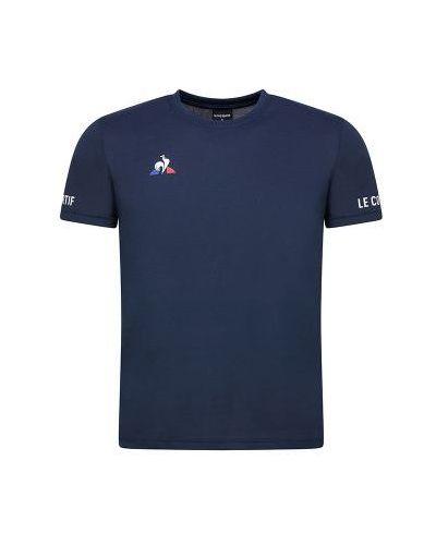 T-shirt do tenisa granatowa Le Coq Sportif