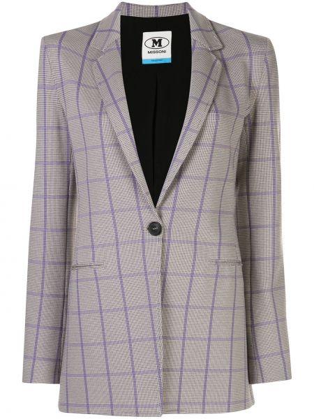 Серый пиджак с карманами на пуговицах M Missoni