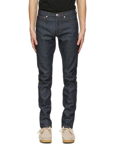 Синие джинсы стрейч A.p.c.