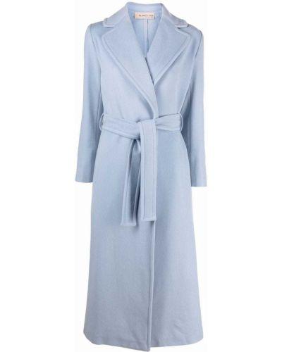 Niebieski płaszcz kopertowy Blanca Vita