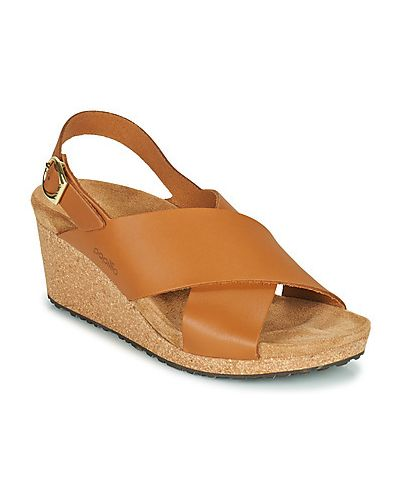 Brązowe sandały z klamrą Papillio